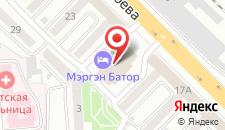 Гостиница Мэргэн Батор на карте