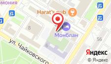 Отель Монблан на карте