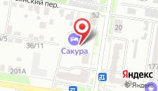 Отель Сакура на карте