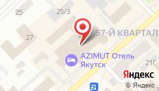 Отель AZIMUT Отель Полярная звезда Якутск на карте