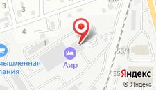Гостиница Аир на карте