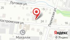 Хостел на Костромской на карте