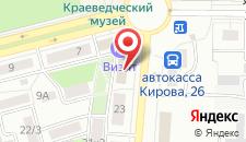 Отель Визит на карте