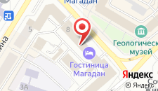 Гостиница Магадан на карте