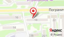 Апартаменты на Пограничной на карте