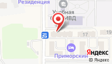 Апартаменты На Приморской на карте