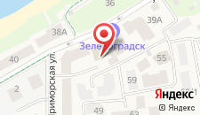 Отель Зеленоградск на карте