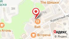 Гостиница Курхаус Кранц на карте