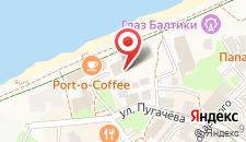 Санаторий Зеленоградск на карте