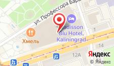 Отель Radisson Калининград на карте