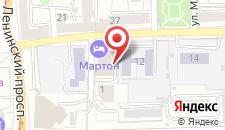 Гостиница Мартон Палас на карте