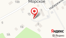Отель Морское на карте