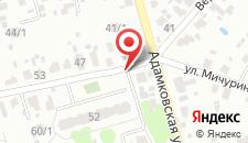 Гостевой дом Мичурина 48 на карте