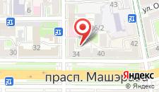 Апартаменты SergeApart на Машерова 34 на карте