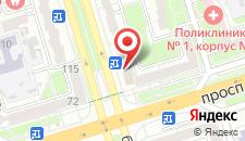 Апартаменты на Машерова 76 на карте