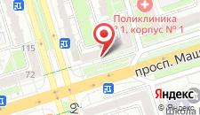 Апартаменты на проспекте Машерова на карте