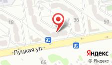 Апартаменты На Луцкой на карте