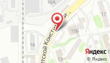 Отель Юность на карте
