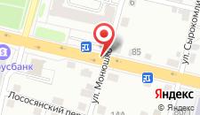 Апартаменты На Советских Пограничников 96а на карте