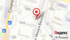 Апартаменты На Василька 4 на карте