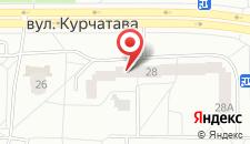 Апартаменты На Курчатова на карте
