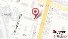 Апартаменты На Дзержинского 6 на карте