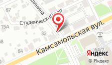 Апартаменты Комсомольская на карте