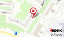 Апартаменты На бульваре Бородинского на карте