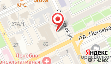 Гостиница Горизонт на карте
