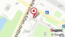 Отель Любэ на карте