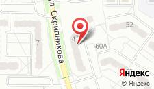 Апартаменты на Скрипникова на карте