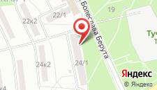 Апартаменты на Берута на карте