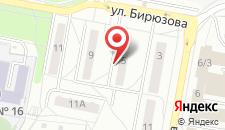 Апартаменты на Бирюзова на карте