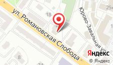 Апартаменты Studio na Romanovskaiya Sloboda 16 на карте