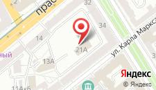 Апартаменты на Карла Маркса на карте