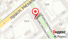Апартаменты Карла Маркса на карте