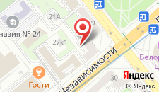 Апартаменты Еврокомфорт на проспекте Независимости 29 на карте