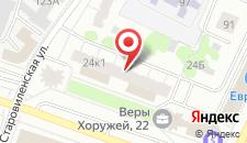 Апартаменты АБВ на Хоружей 24 на карте