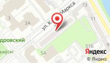 Апартаменты на улице Карла Маркса 42 на карте