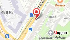 Апартаменты LikeHome Minsk на проспекте Независмости на карте