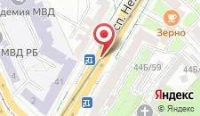 Апартаменты Vip-kvartira Независимости 44 на карте