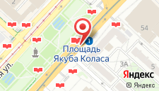 Апартаменты Ольга на проспекте Независимости на карте