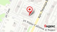 Апартаменты На улице Леонида Беды на карте