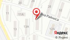 Апартаменты Райнис на карте