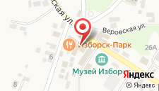 Гостевой дом Изборск Парк на карте