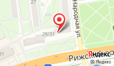 Гостиница Рижская на карте