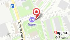 Отель Эдем на карте