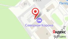 Гостиница Северная Корона на карте