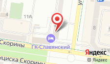 Гостиница Двина на карте