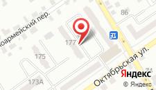 Апартаменты Орхидея на Октябрьской 177 на карте